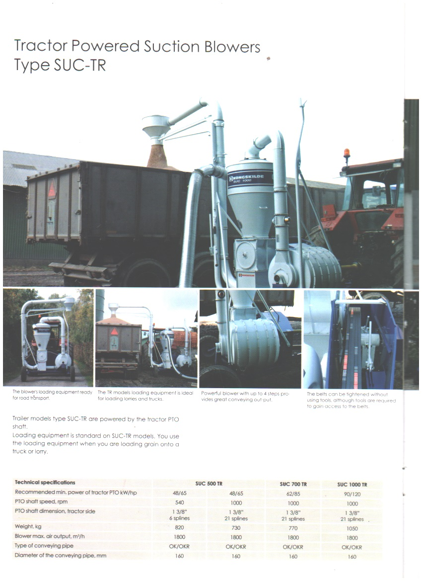 Tractor-Powered Suction Blowers Type SUC-TR