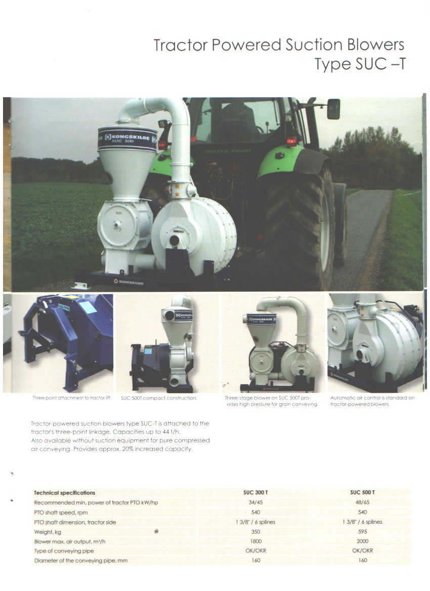Tractor-Powered Suction Blowers Type SUC-T